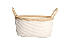 YTJOYOU Large Cotton Rope Laundry Baskets Woven Toy Basket & Baby Hamper, Round