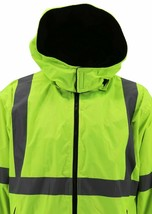 Men's Class 3 Safety High Visibility Water Resistant  Work Jacket w/ Defects 4XL image 2