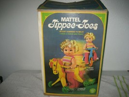 Vintage 1967 Mattel Tippee-Toes Doll w/Tricycle Trike Rocking Horse & Bo... - $247.49