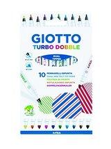 Giotto Turbo Dobble Dual Tipped 10 Dual-Nib Felt-Tip Pens 2.5mm/5mm Set, 4246 00 - $12.86