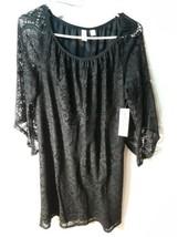 TACERA  Women's Netting Style Black Dress 100% Polyester New - $12.91