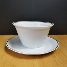 Rosenthal Continental 3455 Gravy Boat with Underplate White Platinum Trim  - $8.86