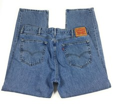 Levi's 505 Regular Fit Straight Leg Red Tab 100% Cotton Blue Jeans Men's... - $23.15