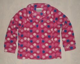 Columbia Benton Springs Polka Dot Fleece Jacket Toddler Girls Size 3T - $19.99