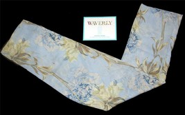 Waverly STARLA Blue Chambray Floral Sheer Rod Pocket Panel Curtain 54x84... - $29.99