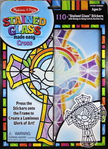 Cross Frame Stained Glass​ Light Catcher Press & Peel Stickers Arts & Craft - $14.68