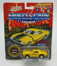 Johnny Lightning 1/64 Muscle Cars USA 1969 Mercury Cougar Eliminator Yellow LE - $11.76