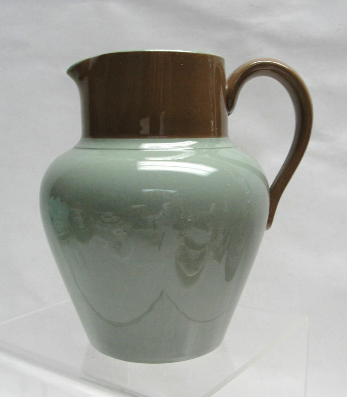 "Primary image for DODSON BROTHERS Pottery, Hanley England - 5"" CREAM / MILK PITCHER - Green/Brown"