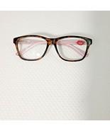 Lulu Guinness Designer Reading Glasses Eyeglasses Brown Pink 2.5 Strong - $29.66