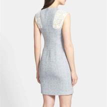 Rebecca Taylor Grey/White Tweed Lace Sheath Dress WOMEN SIZE 2 - $66.50