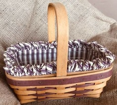 Vintage Longaberger Small Berry Basket With Liners. 1990 Signed  And Dated . - $23.75
