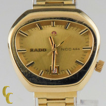 Vintage Rado NCC 444 Gold Plated Automatic Women's Watch 558.3018.2 - $656.48
