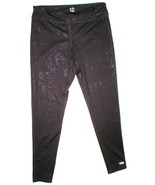 Womens Leggings C9 Champion Pants L Run Pilates Yoga Dark Purple Black Foil - $10.80