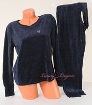 Victoria's Secret Sleep Pajama Velvet Set Long Sleeve Fly-away Top Pant ... - $44.99