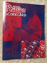 1998 Philadelphia Phillies MLB Baseball Scorecard - New - $5.00