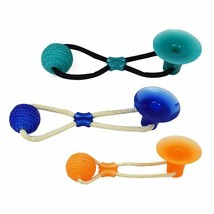 Suction Cup Dogs TPR Ball Toy Interactive Activity Doggy Ropeball Tug Mo... - $22.76