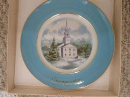 Avon 1974 Christmas Country Church Plate - $19.55