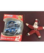 VINTAGE ORNAMENT STARFISH PAINTED AS SANTA AND NASCAR Rusty Wallace Orna... - $9.50