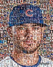 Kris Bryant of the Chicago Cubs Photo Mosaic Print Art - $24.99+