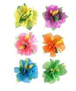 The Harlequin Brand Assorted Hair Clip Hibiscus Flower - Pack Of 6 - $8.90