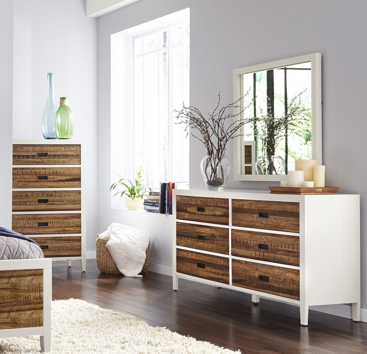 Manitoba Full Bed, Nightstand, Dresser, Mirror & Chest