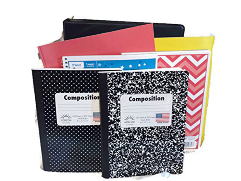 Back to School Essentials Scissors Pencils Notebooks Supplies Kit Bundle K-8