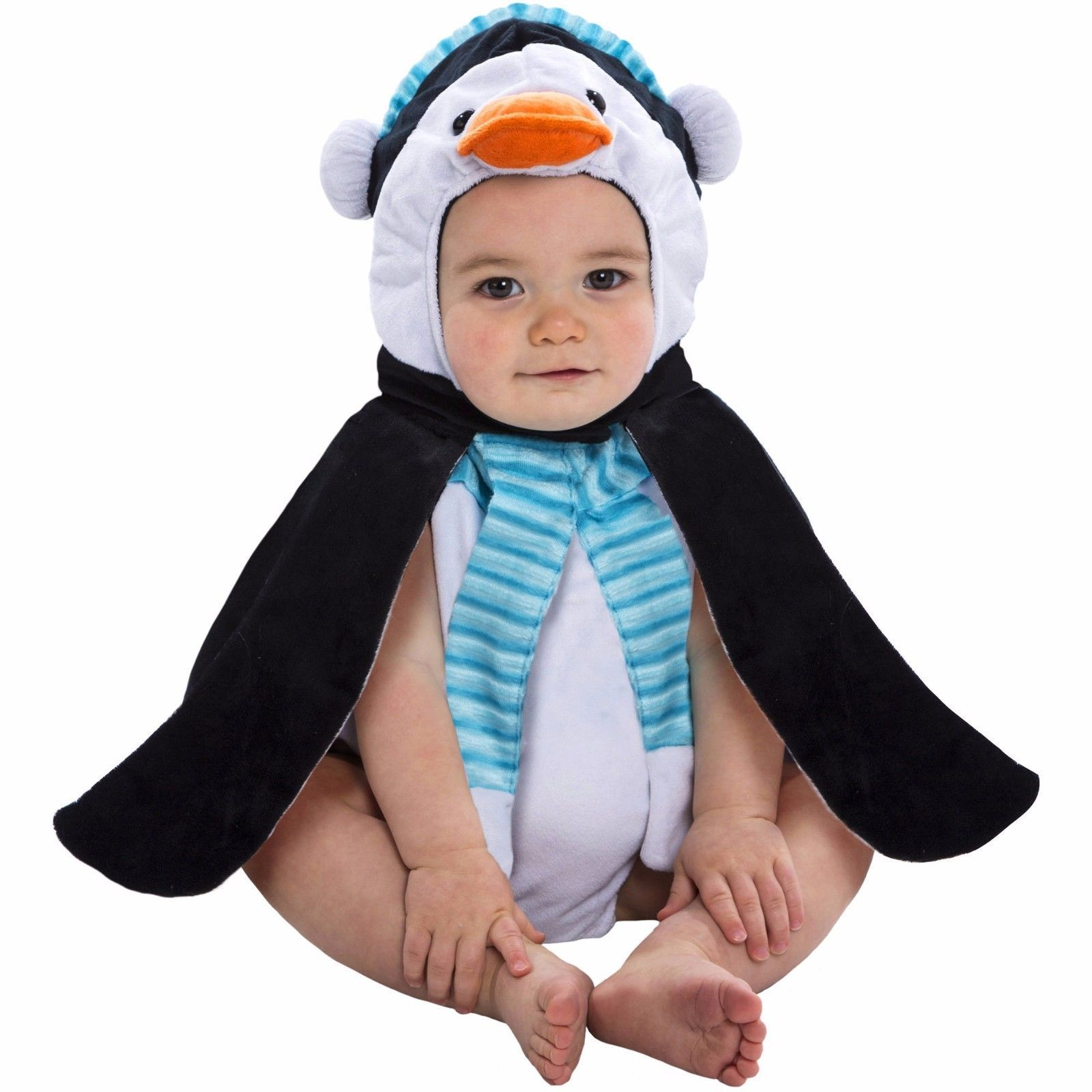 NEW NWT Boys or Girls Baby Penguin Plush Bubble Costume 0-9 Months Halloween