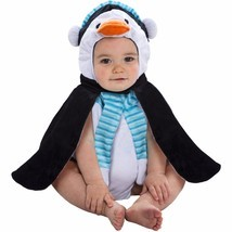 NEW NWT Boys or Girls Baby Penguin Plush Bubble Costume 0-9 Months Hallo... - $12.99