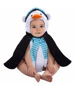 NEW NWT Boys or Girls Baby Penguin Plush Bubble Costume 0-9 Months Hallo... - £10.20 GBP