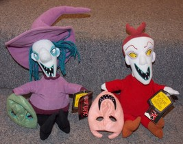 2004 NECA Nightmare Before Christmas Lock and Barrel Plush Toys New With Tags - $49.99