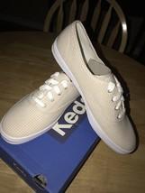 Keds Women's Champion Seersucker Tan Fashion Sneaker  8.5 M US - $29.69