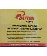 Dayton  Audio audiophile Grade Stereo Volume Control - $38.60