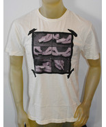 NWT URBAN OUTFITTER MENS SHORT SLEEVE GRAPHIC T-SHIRT IVORY SIZE: MEDIUM - $9.99