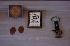 Disney World Land Souvenir  Pin, Keychain, Vintage Bronze Coin  Lot of 5 - $19.40