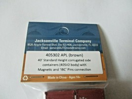 Jacksonville Terminal Company #405302 APL (brown) 40' Standard Containers (N image 2
