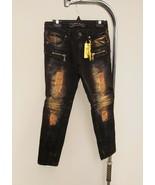 Robins Stretch Denim Jeans for Boys Distressed Rips & Fades Zipper Fashi... - $299.92