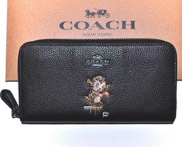 COACH Black Buster Wallet Gary Baseman Leather Bag Accessory NWT $275 - $168.25