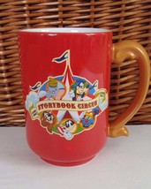 Walt Disney World Parks Storybook Circus Big Top Dumbo Goofini Coffee Mug Red - $28.04