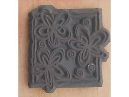Magenta Floral Wood Mounted Rubber Stamp #23407-F image 2