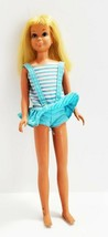 Vintage Sun Tan Barbie Malibu Skipper In bathing suit 1960's Mattel  Nice!! - $23.11