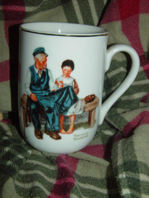 1982 Norman Rockwell Museum The Lighthouse keeper's Daughter Cup/Mug image 2