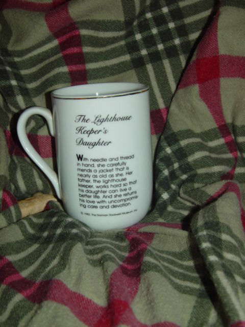 1982 Norman Rockwell Museum The Lighthouse keeper's Daughter Cup/Mug image 3