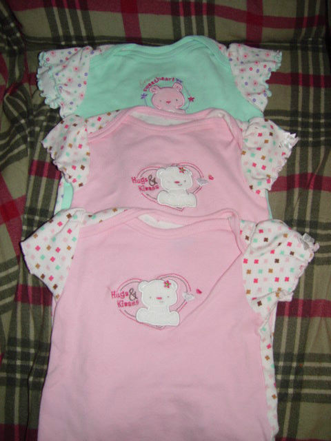 Bon Bebe Size 3-6 Months 13 -18 lbs set of 3 One-Pieces