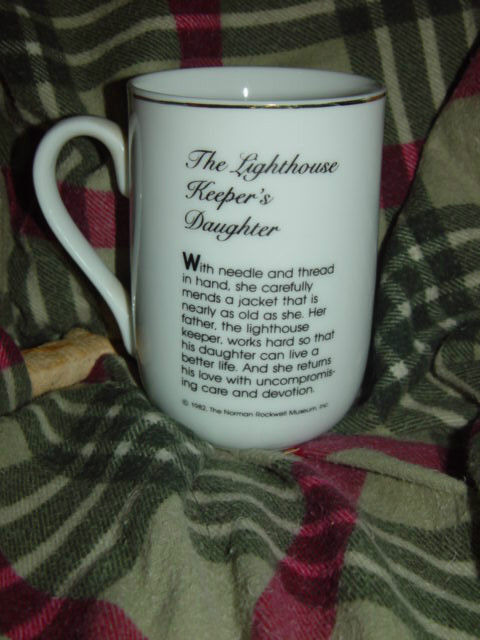 1982 Norman Rockwell Museum The Lighthouse keeper's Daughter Cup/Mug image 5