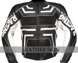 Black biker leather jacket front thumb155 crop