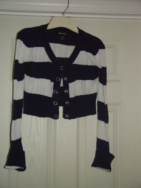 Wet Seal Size L Juniors Cardigan Sweater Like Top image 2