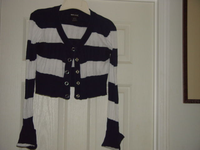 Wet Seal Size L Juniors Cardigan Sweater Like Top image 5