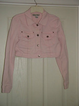 Street Blues Stretch Light Pink Jacket Size L Juniors image 3
