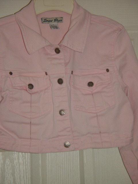 Street Blues Stretch Light Pink Jacket Size L Juniors