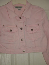 Street Blues Stretch Light Pink Jacket Size L Juniors image 1